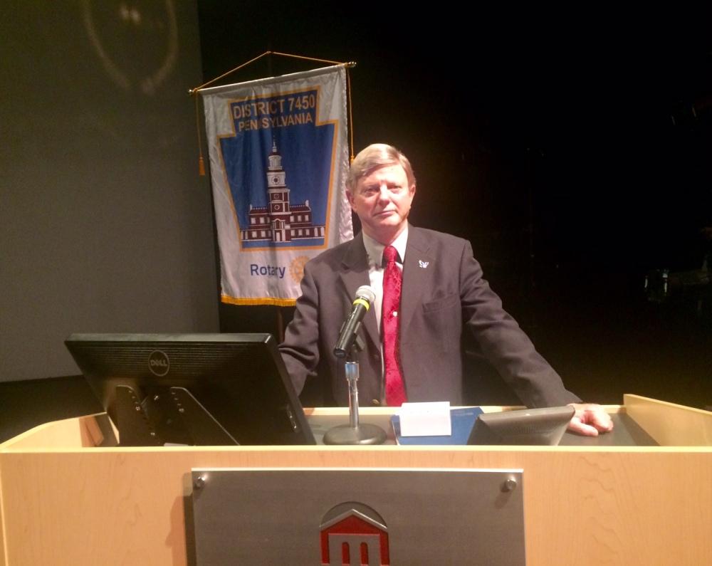 joe at the podium