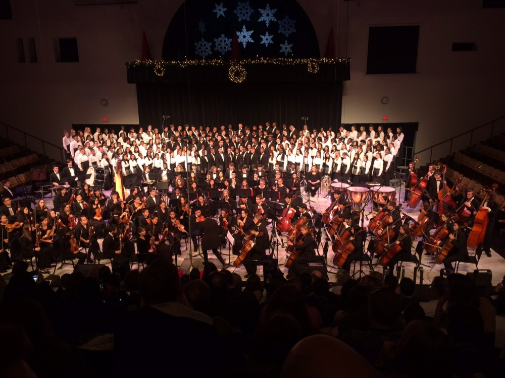 udhs choir with the philadelphia youth orchestra