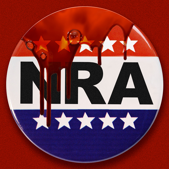 Bloody NRA Button